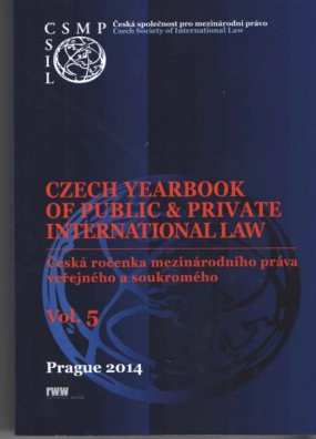 Czech Yearbook of Public&Private International Law. Vol. 5/2014